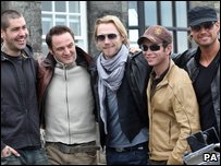Boyzone: (L-R) Shane, Mikey, Ronan, Stephen and Keith