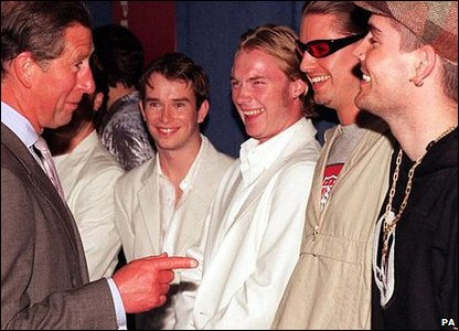 Boyzone with Prince Charles in 1998
