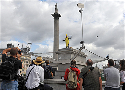 One & Other in London's Trafalgar Square