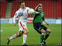 Niall McGinn in action