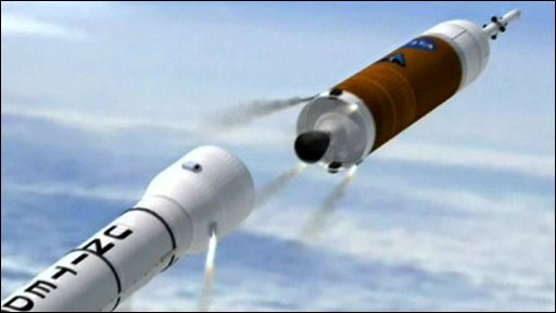 Artist's impression of the Ares 1 rocket