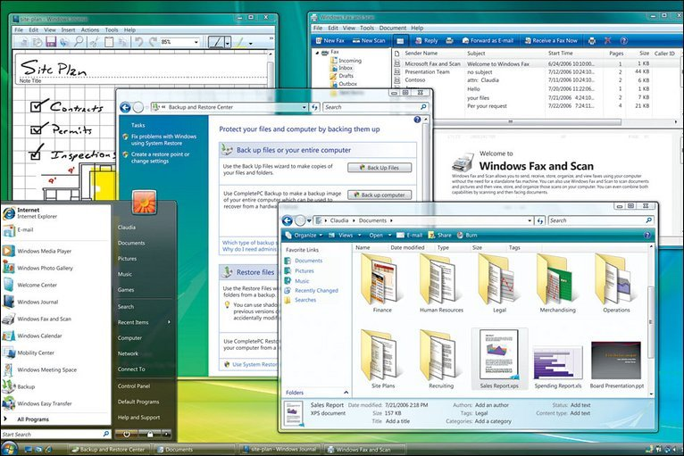 Windows Vista Screenshot Microsoft