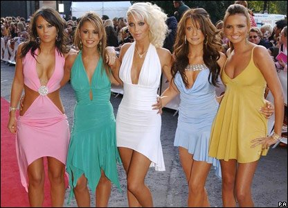 Girls Aloud at the Disney Choice awards in 2004