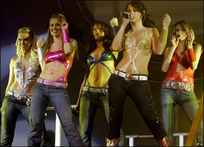 Girls Aloud performing in 2005