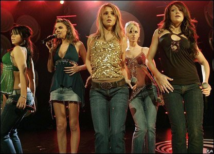 Girls Aloud performing in 2004