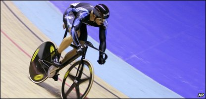 Chris Hoy during the Open Sprint final