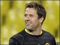 Michael Owen in training