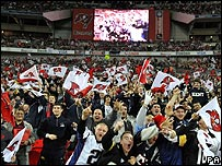American Football fans at Wembley