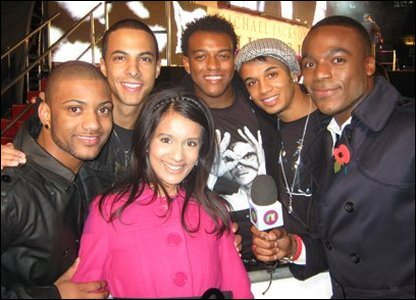 Sonali and Ore meet JLS