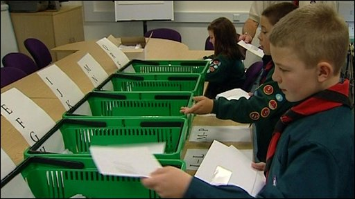 Scouts help with the postal strike