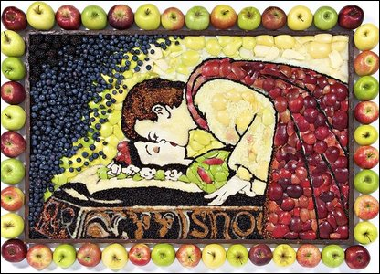 Snow White in apples