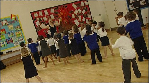 Kids keeping fit at school
