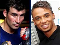 Joe Calzaghe and Aston from JLS
