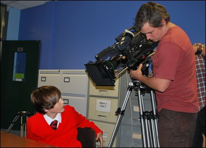 Filming Tom for the Newsround special