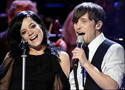 Lily Allen and Mark Owen