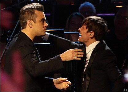 Robbie Williams and Mark Owen