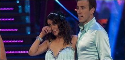 Laila Rouass and her dance partner Anton Du Beke