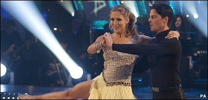 Ali Bastian and her dance partner Brian Fortuna