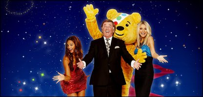 Pudsey with Children in Need stars