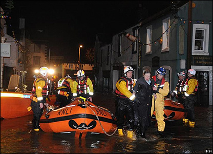 A night rescue in Cockermouth