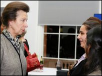 Press Packer Aysha meets the Princess Royal