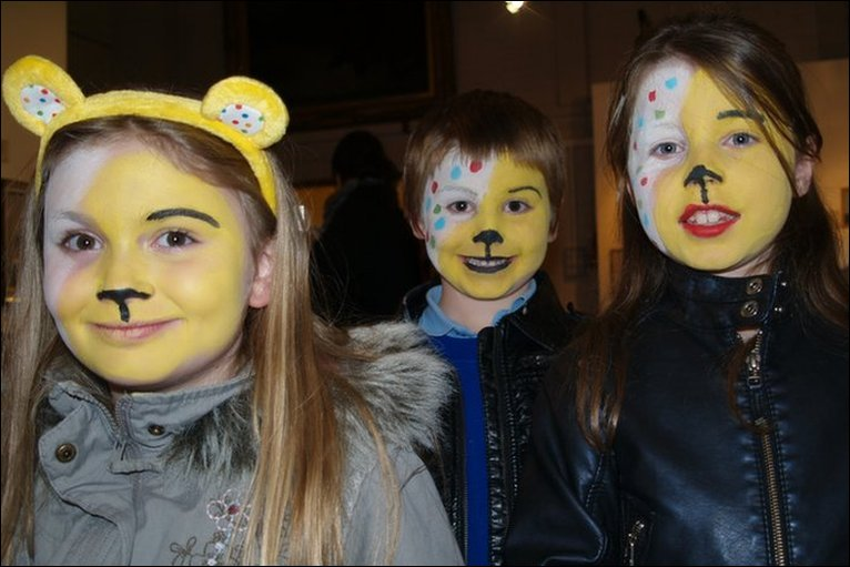 Had Her Face Painted For Children In Need