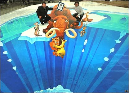 Edgar Mueller and his street painting