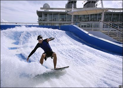 Surf simulator on the Ocean of the Seas