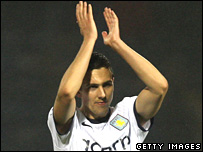 Villa's Stuart Downing applauds fans