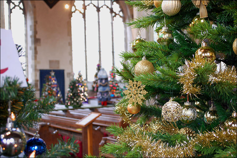 Decorated Christmas Tree Festival At St Thomas' Church