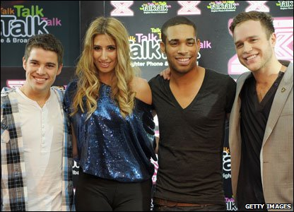 Joe McElderry, Stacey Solomon, Danyl Johnson and Olly Murs