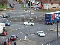 Large roundabout in Swindon