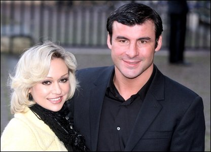 Joe Calzaghe and Kristina Rihanoff arrive at the Woman's Own Children of Courage Awards in London