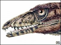 Artist's impression of the meat-eating dinosaur Tawa Hallae