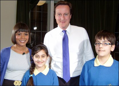 Leah, Nivar, David Cameron and Arian
