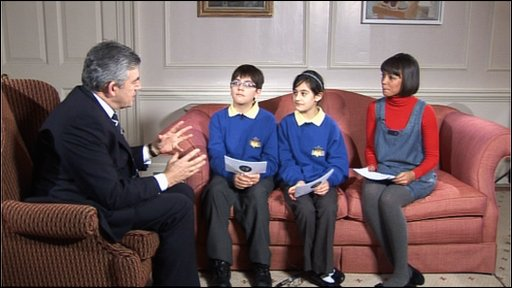 Newsround with Gordon Brown