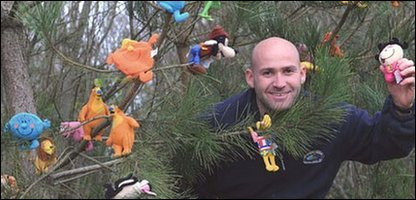 Ranger Andrew Jenkins with some of the toys