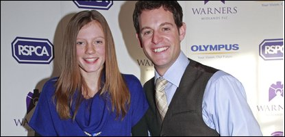 Lucy with judge Matt Baker