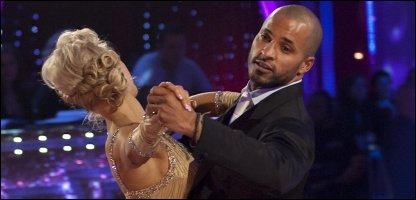 Ricky Whittle on Strictly Come Dancing with his dance partner Natalie Lowe