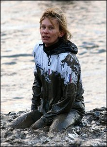 Competitor in the mud