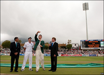The coin toss in the third Test