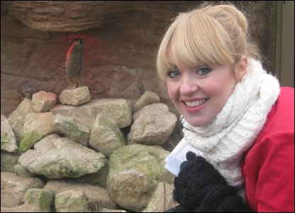 Hayley and some meerkats