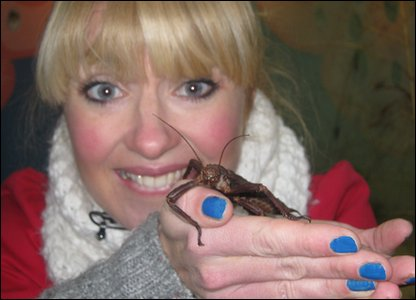 Hayley holding a stick insect