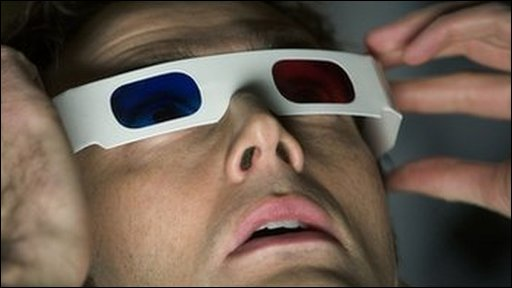 Doctor Who wearing 3D glasses