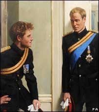 Prince Harry and William's portrait