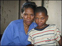 Dumisani and his mum