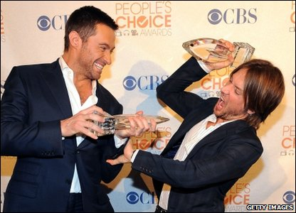 Hugh Jackman and Keith Urban