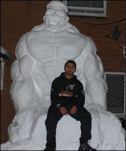 Incredible Hulk sculpture