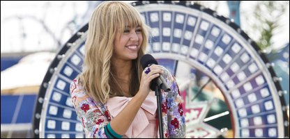 Miley Cyrus as Hannah Montana in Hannah Montana: The Movie
