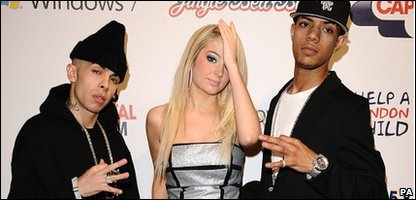 Dappy with the rest of N-Dubz